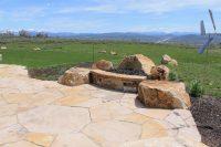hardscape landscaping, rock patio